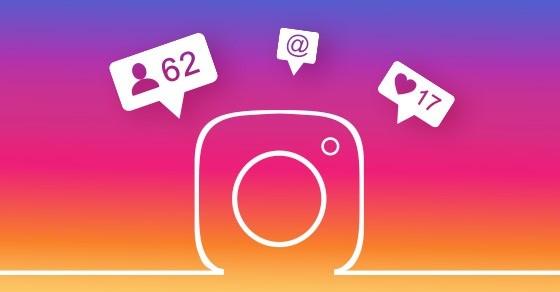Instagram likes weergaven
