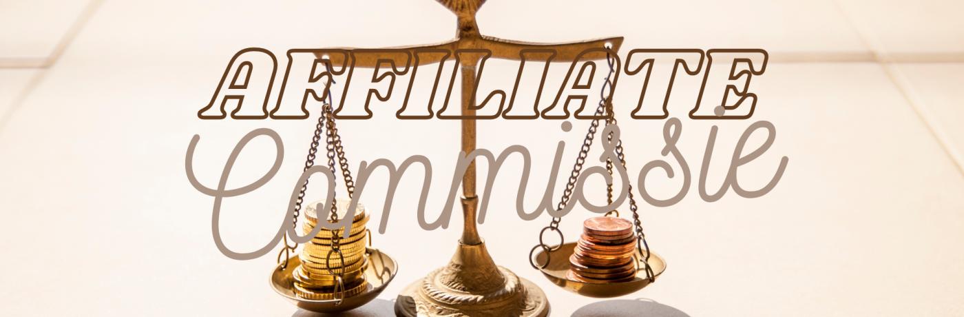 Hoeveel commissie geef je aan affiliates?