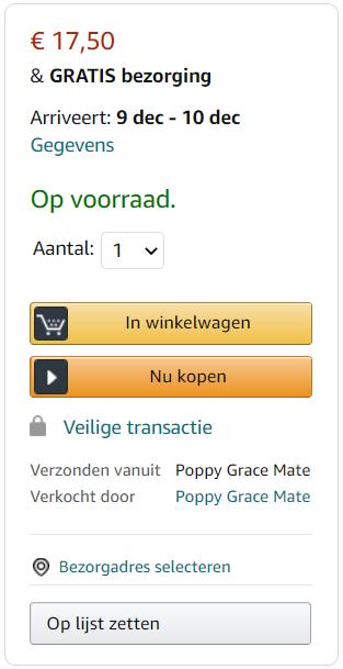 Amazon Buybox voorbeeld