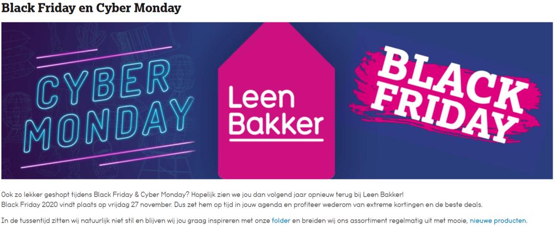 Black Friday marketing geheimen voorbeeld