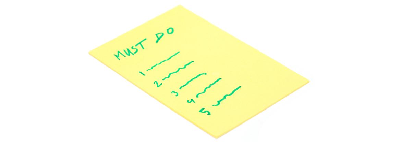 must-do lijst