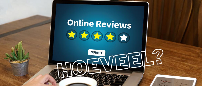 Hoeveel reviews moet je verzamelen?