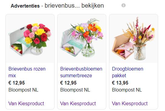 Shopping ad voorbeeld