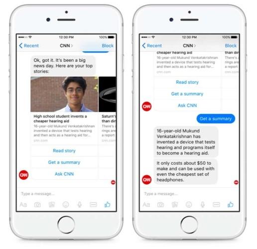 CNN chatbot voorbeeld