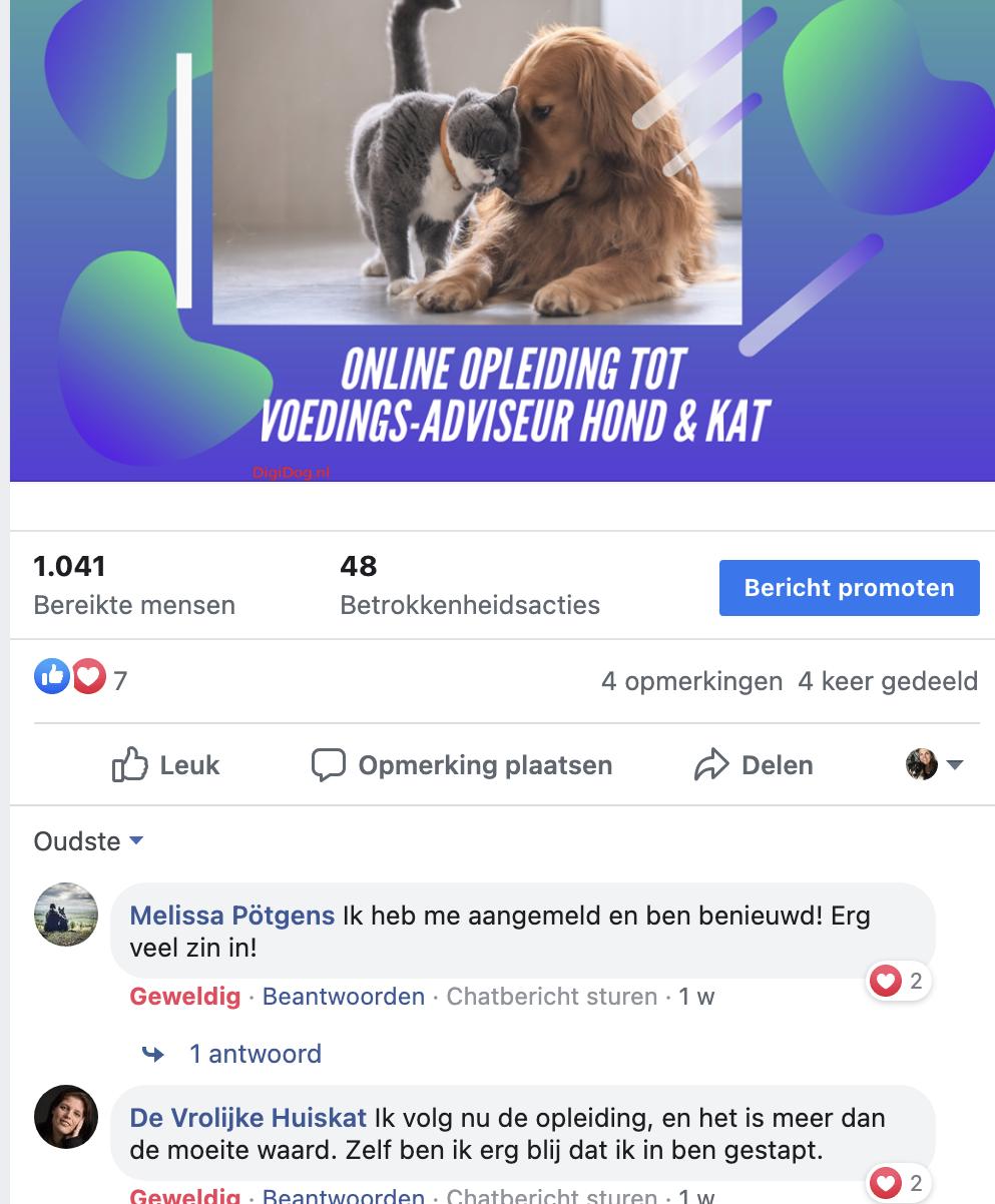 Review Opleiding tot Voedingsadviseur voor honden en katten