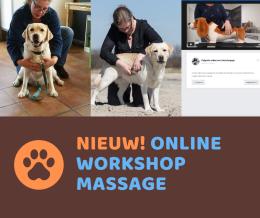 Nieuw: online workshop ontspanningsmassage voor de hond