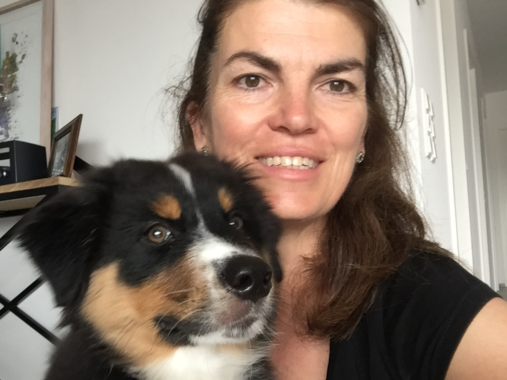 Mandy met puppy Floris: 12 weken oud