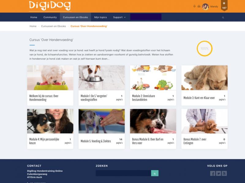 Programma onderdelen Gezonde voeding voor je hond: altijd en overal de nieuwste informatie