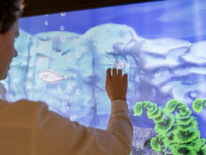 Tekeningen worden omgezet naar een digitaal aquarium