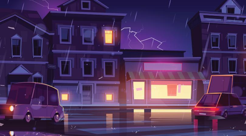 Verhalenvertelweek - Regenachtige straat