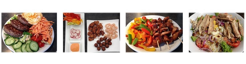 collectie van eiwitrijke recepten
