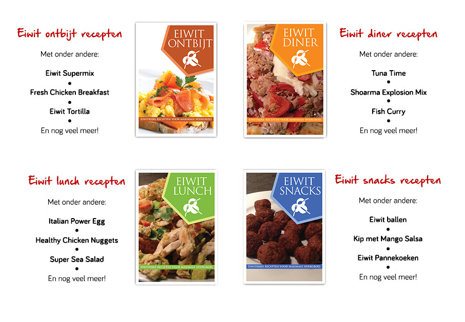 Inhoud van het eiwitrijke recepten kookpakket