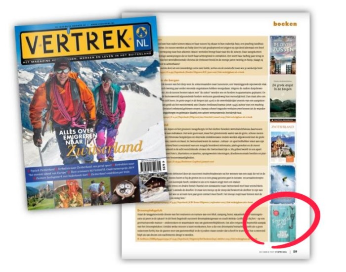 VertrekNL magazine recensie DroomplekGeluk boek B&B buitenland
