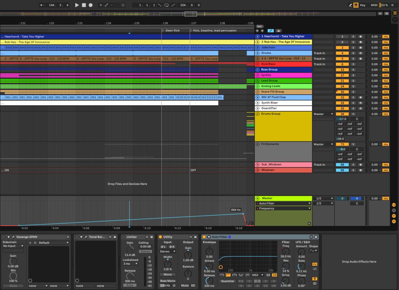 Filter sweeps om krachtigere drop te maken in muziekproductie