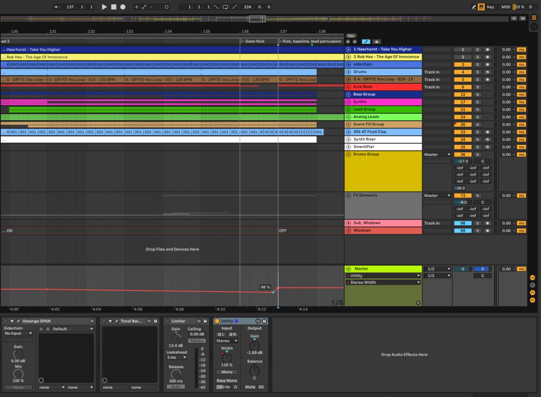 Mono build ups om krachtigere drop te maken in muziekproductie