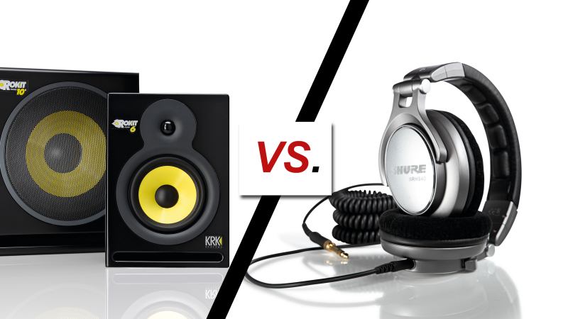 studio monitors vs koptelefoons