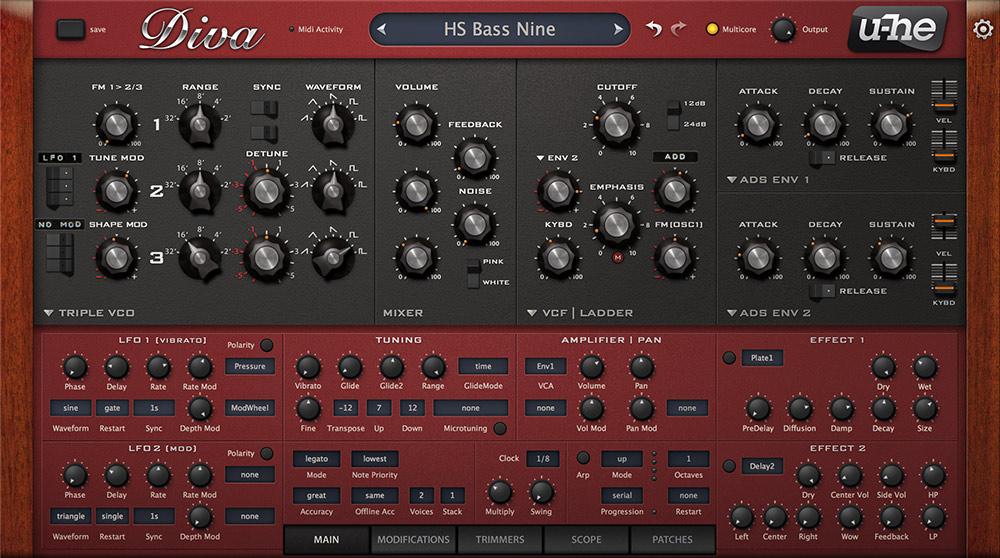 U-He Diva Synth VST Plugin