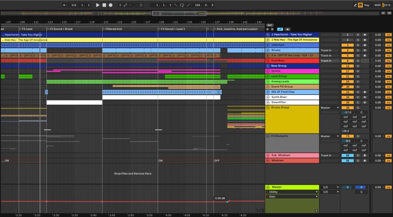 Volume automatisering om krachtigere drop te maken in muziekproductie
