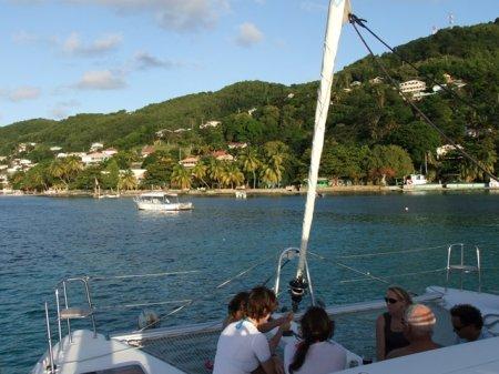 gasten op catamaran