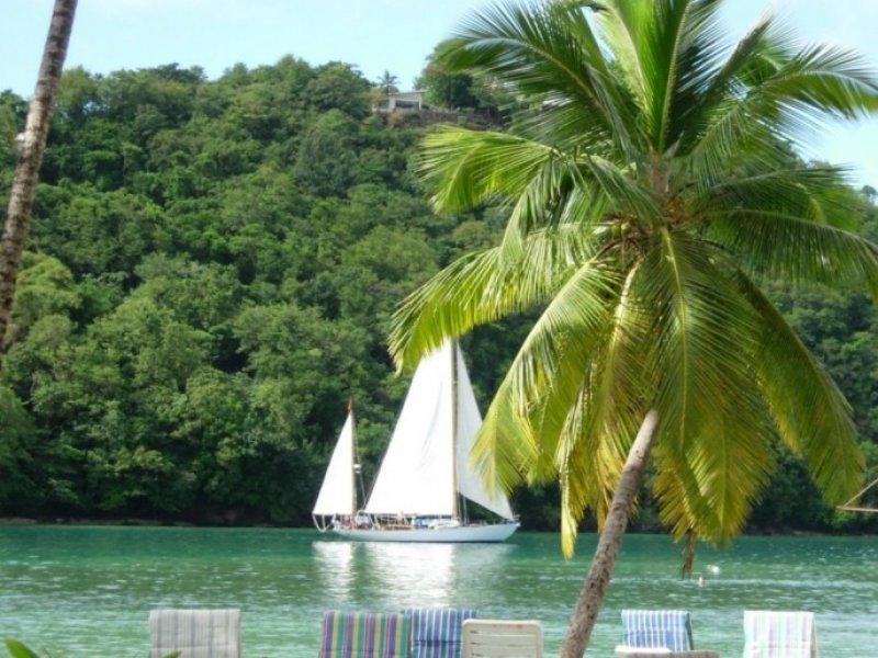 voor anker St Lucia