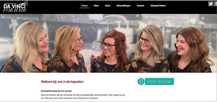 Da Vinci for Hair website