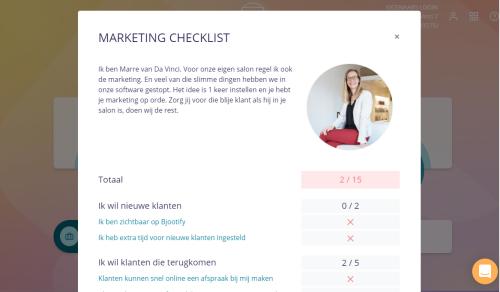 Salon marketing checklist