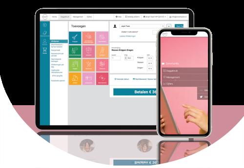 SalonSoftware van Da Vinci op smartphone en computer