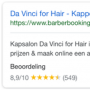Google zoekresultaten da vinci software