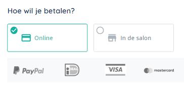 Online betaling opslaan