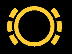 dashboardlampje versleten remblokken - icoon