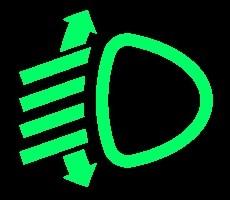 groene dashboardlampjes - koplampafstelling