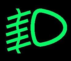 groene dashboardlampjes - mistlicht voor