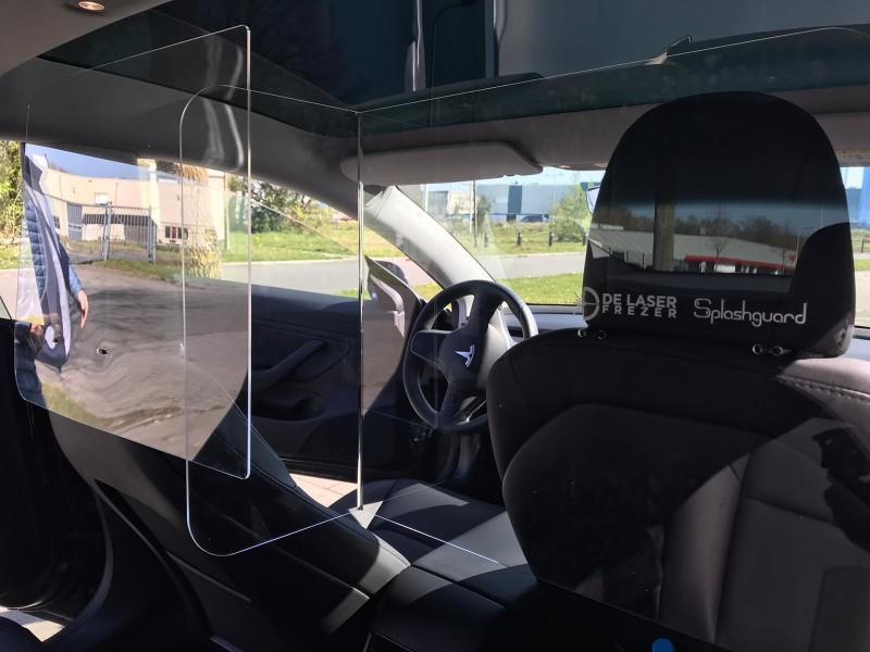 Afscheiding plexiglas auto of bus
