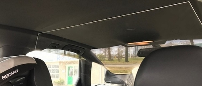 Spatscherm voor Audi-taxi