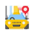 Spatscherm taxi of bedrijfsauto