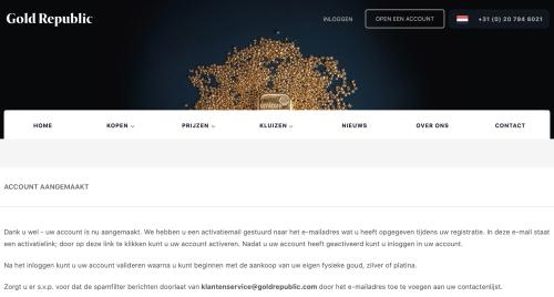 Goldrepublic stappenplan - Registratie stap 2