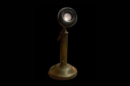 Oude microfoon lamp