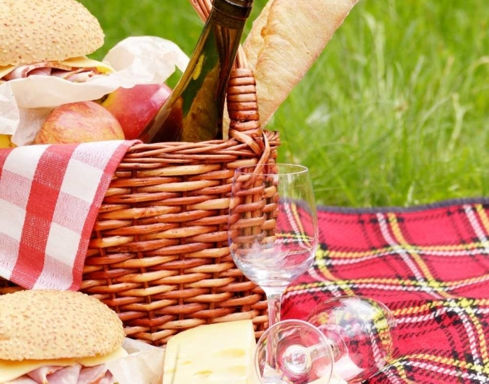 picknicken op het strand