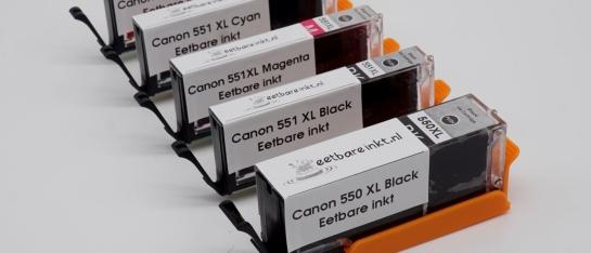 Canon 550 551 eetbare inkt edible ink los