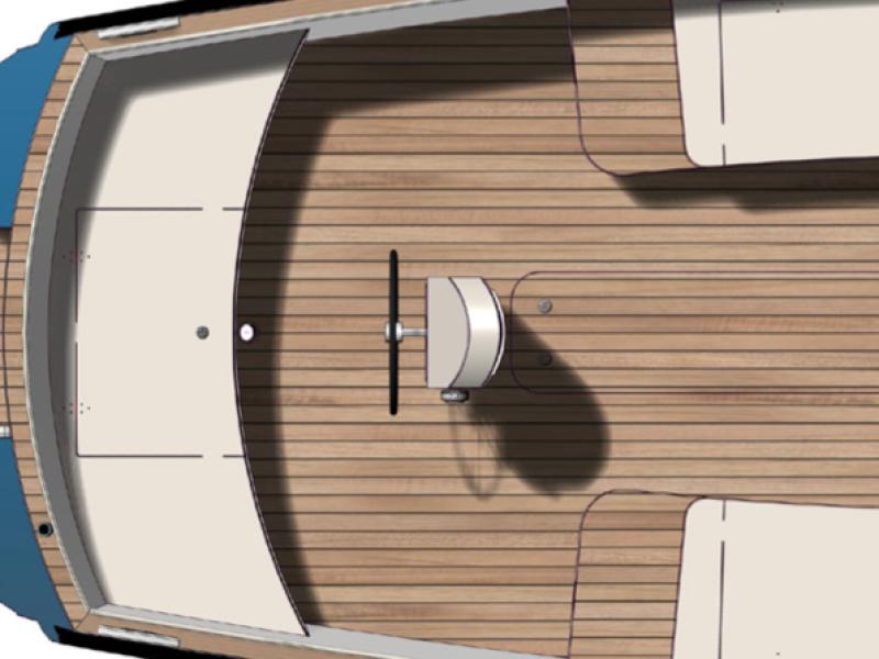 achterkuip en stuurstand classic 570 | Eagle boats | Elektrisch Varen Centrum