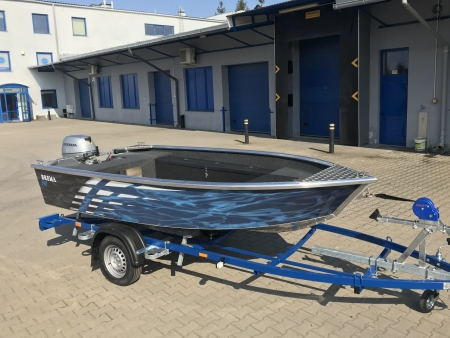 Brema 370 aluminium visboot