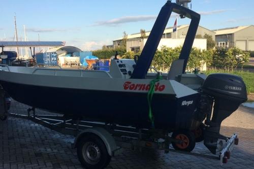 Tornado 500   visboot te koop   Elektrisch Varen Centrum