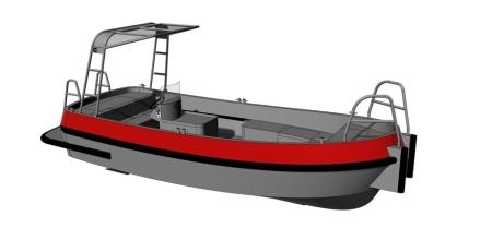 E-Froce 600 eagle boats | Aluminium elektrisch aangedreven werkboot