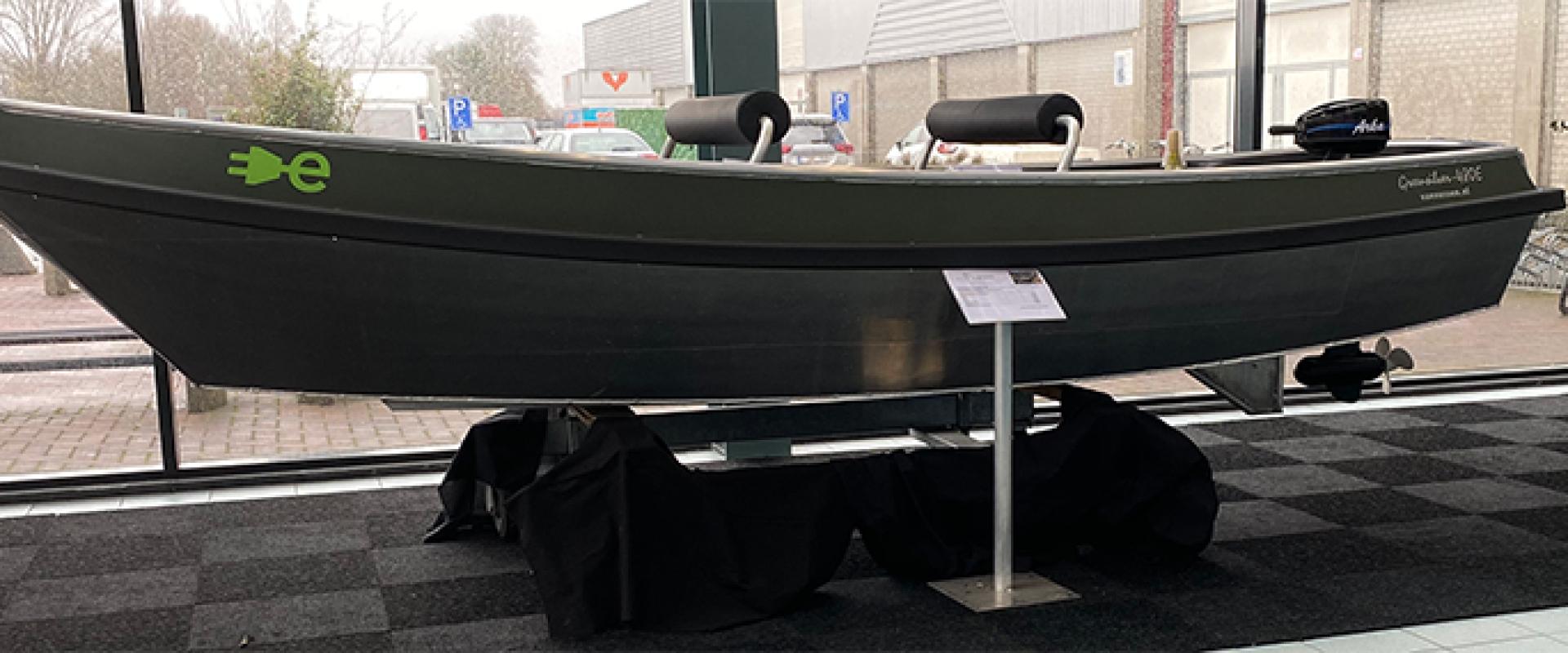 Fossiel vrij plein op Boot Holland 2020 ter promotie van Elektrisch varen