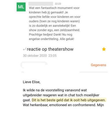 reacties kindlief theatershow