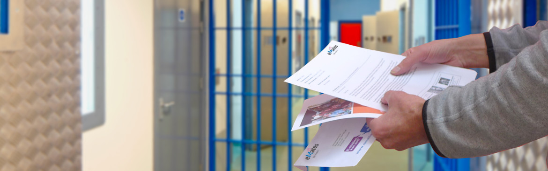 Contact per mail in de gevangenis