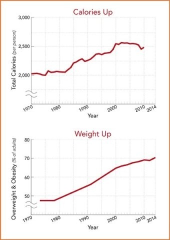 Meer eten leidt tot meer overgewicht - afvallen zonder dieet