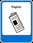 Papier sticker afval scheiden