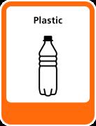 Plastic sticker afval scheiden