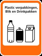 Plastic verpakkingen, Blik en Drinkpakken sticker afval scheiden